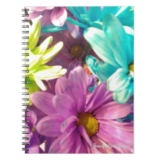 Dyed Daisies Spiral Note Books