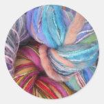 Dyed Knitting Yarn Round Stickers