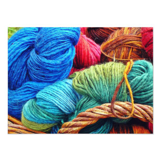 Dyed Wool for Knitting 14 Cm X 19 Cm Invitation Card