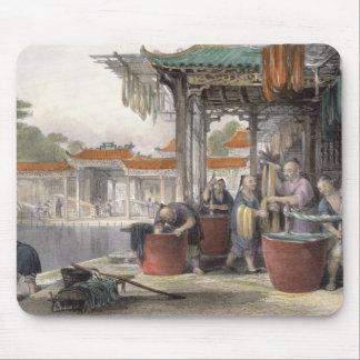 Dyeing and Winding Silk, from 'China in a Series o Mouse Mat