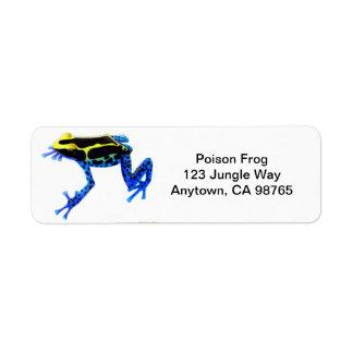 Dyeing Poison Frog Avery Label Return Address Label