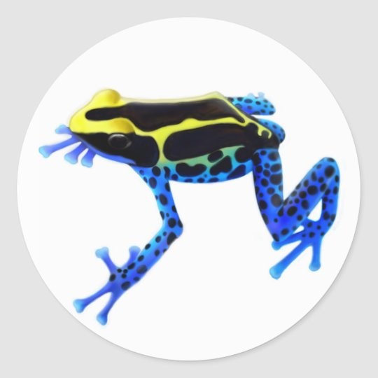 Dyeing Poison Frog Classic Round Sticker