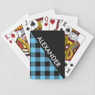 DYI BG Blk Buffalo Plaid 2 Bold Triangles Diag SB Playing Cards