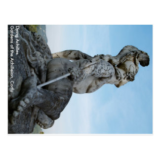 Dying Achilles statue in Corfu Postcard