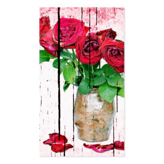 Dying Red Roses Pack Of Standard Business Cards