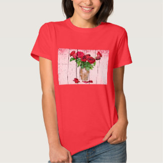 Dying Red Roses Tee Shirt