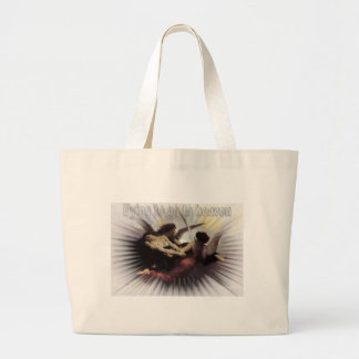 dying to go to heaven tote bag