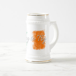 Dying to Try Beer Stein