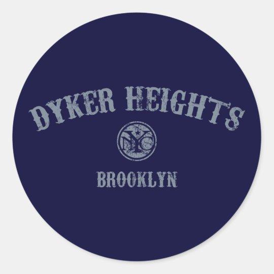 Dyker Heights Classic Round Sticker