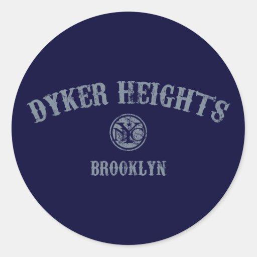 Dyker Heights Round Sticker