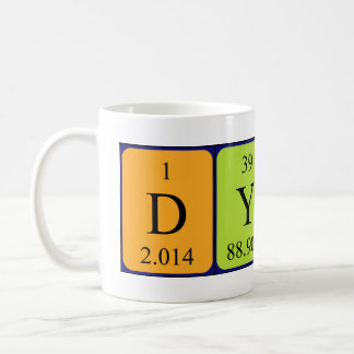 Dylan periodic table name mug