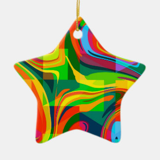Dynamic abstract christmas ornament