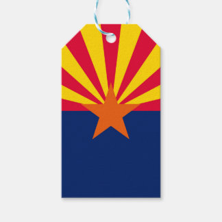 Dynamic Arizona State Flag Graphic on a Gift Tags