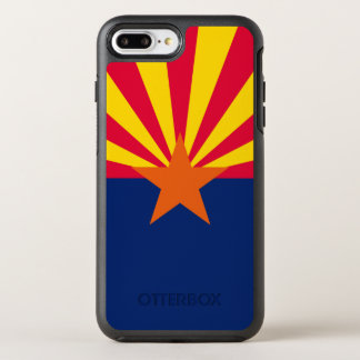 Dynamic Arizona State Flag Graphic on a OtterBox Symmetry iPhone 8 Plus/7 Plus Case