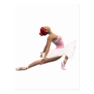 Dynamic Ballet Move Postcard
