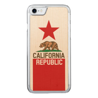 Dynamic California State Flag Graphic on a Carved iPhone 8/7 Case