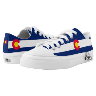Dynamic Colorado State Flag Graphic on a Low Tops