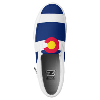 Dynamic Colorado State Flag Graphic on a Slip On Shoes
