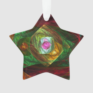 Dynamic Connections Abstract Art Acrylic Star Ornament