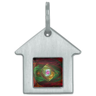 Dynamic Connections Abstract Art House Pet Name Tag