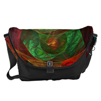 Dynamic Connections Abstract Art Large Bag Courier Bag