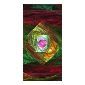 Dynamic Connections Abstract Art Photo Card