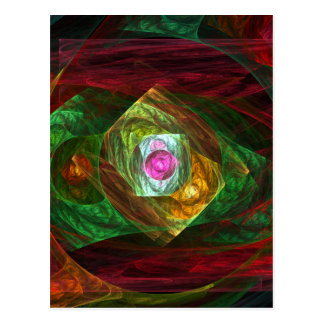 Dynamic Connections Abstract Art Postcard