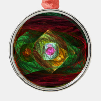 Dynamic Connections Abstract Art Round Christmas Ornament