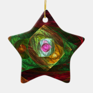 Dynamic Connections Abstract Art Star Ornament
