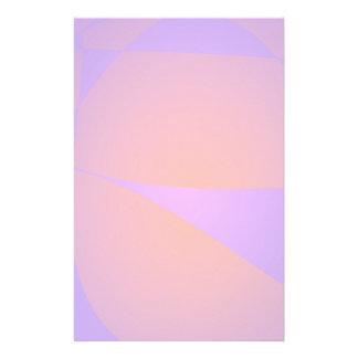 Dynamic Contrast Purple and Orange Stationery Design