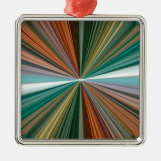 Dynamic converging lines pattern christmas ornament