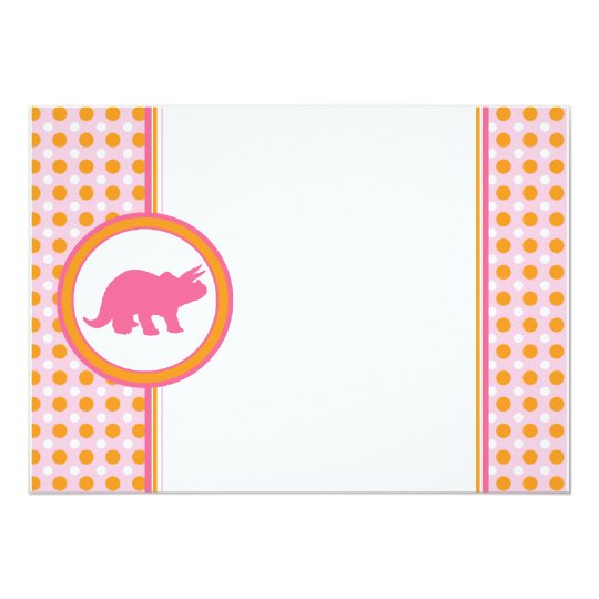 Dynamic Dino {0290} Pink Invitation