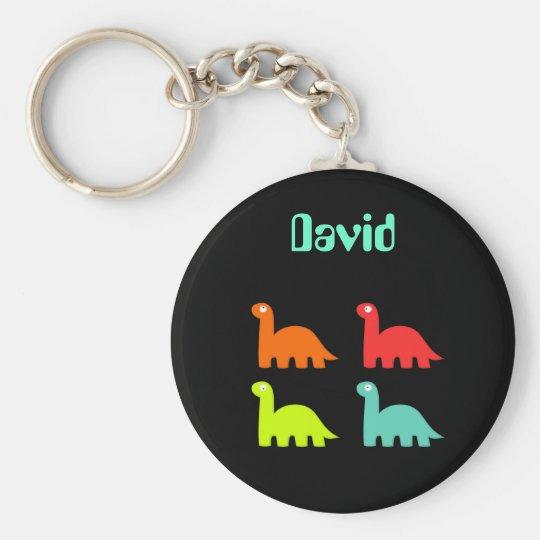 Dynamic Dinos Name Keychain David
