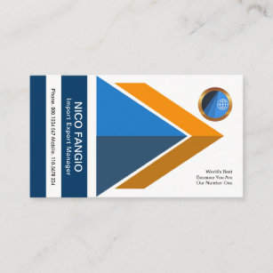 Dynamic Enterprising Lively Import Export Manager Business Card