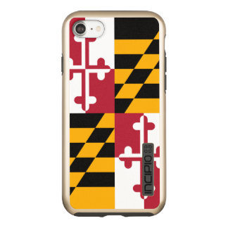 Dynamic Maryland State Flag Graphic on a Incipio DualPro Shine iPhone 8/7 Case