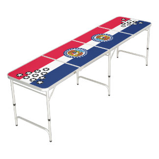 Dynamic Missouri State Flag Graphic on a Beer Pong Table