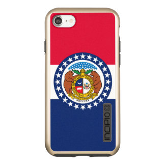 Dynamic Missouri State Flag Graphic on a Incipio DualPro Shine iPhone 8/7 Case