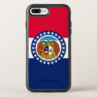 Dynamic Missouri State Flag Graphic on a OtterBox Symmetry iPhone 8 Plus/7 Plus Case