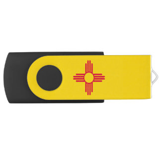 Dynamic New Mexico State Flag Graphic on a USB Flash Drive