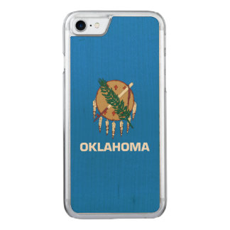 Dynamic Oklahoma State Flag Graphic on a Carved iPhone 8/7 Case
