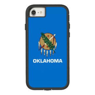Dynamic Oklahoma State Flag Graphic on a Case-Mate Tough Extreme iPhone 8/7 Case