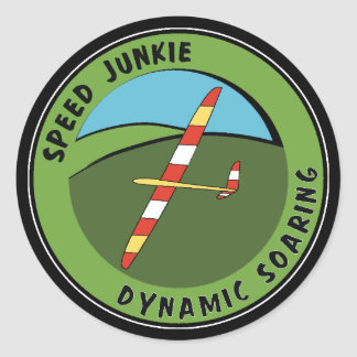 Dynamic Soaring Round Stickers