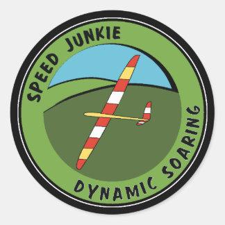 Dynamic Soaring Classic Round Sticker