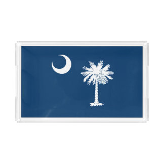 Dynamic South Carolina State Flag Graphic on a Acrylic Tray