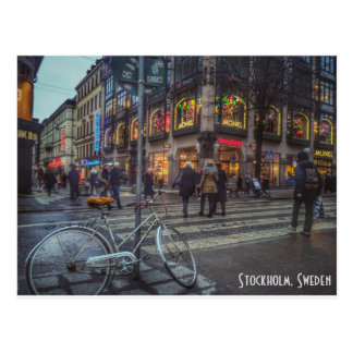 Dynamic streetview of Stockholm, Sweden Postcard