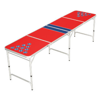 Dynamic Tennessee State Flag Graphic on a Beer Pong Table