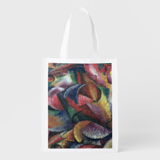 Dynamism of the Body 1913 oil on canvas Grocery Bags