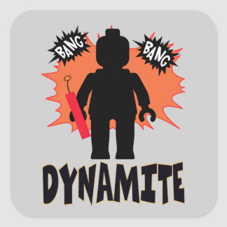 Dynamite Minifig by Customise My Minifig Sticker