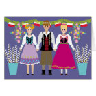 Dyngus Day Polish Folk Art Boy and Girls Card
