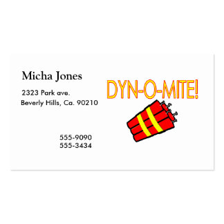 Dynomite Dynamite Pack Of Standard Business Cards